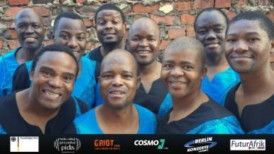 "July 20: Ladysmith Black Mambazo: Mandela 100 Tribute Konzert // Nelson Mandela Centenary – South Africa's Voice Sensation Ladysmith Black Mambazo Live in Berlin – incl. Special Guests and After Show Party! Paul Simon's legendary album ""Graceland"" made them famous overnight – in the meantime Ladysmith Black Mamabazo have won five Grammys and collected another 19 Grammy nominations while entertaining their worldwide public with their wonderful singing harmonies and impressive choreographies on the highest level since more than five decades. On Madiba's insistence, Ladysmith Black Mambazo accompanied him to Oslo for his Nobel Price Awarding ceremony and also sang at his presidential inauguration in 1994 – for Mandela's 100th anniversary they will be singing live in Berlin! ""Fifty years on, Ladysmith Black Mambazo may be an institution, but it's a vibrant, high-stepping institution that shows no signs of slowing down."" (Huffington Post) As Special Guests we are happy to announce two South African Berliners: _Dear Reader's intimate Indie-Pop is as free-spirited as it is intoxicating and bursting with affectionate joy of living. Her album ""Rivonia"" is a tribute to her native South Africa, to the anti-apartheid resistance and to the newly won and precarious freedom. _After-Show Party with DJ Floyd Lavine, Watergate Resident and global nomad! An event by New Berlin Konzerte, Piranha Records and FuturAfrik in cooperation with Radio Cosmo. With financial support by the Federal Foreign Office. @ Columbia Theatre Berlin"